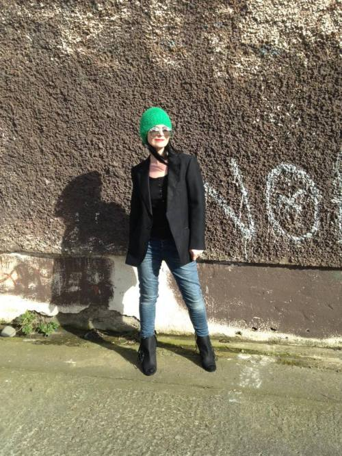 Green knitted vintage Beanie!