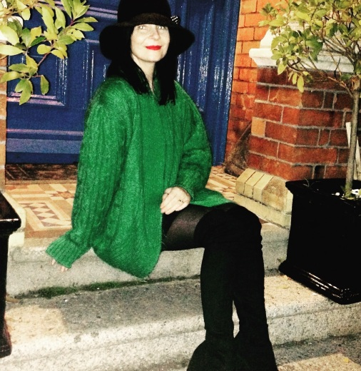Living the Green! Vintage green mohair jacket, perfect Paddy's day Jacket