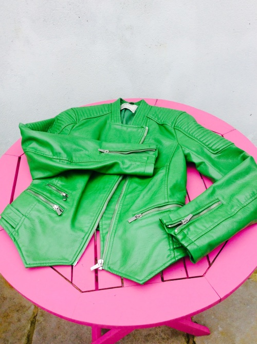 Fab Green Biker from Zara! LOOOOOOVE This!