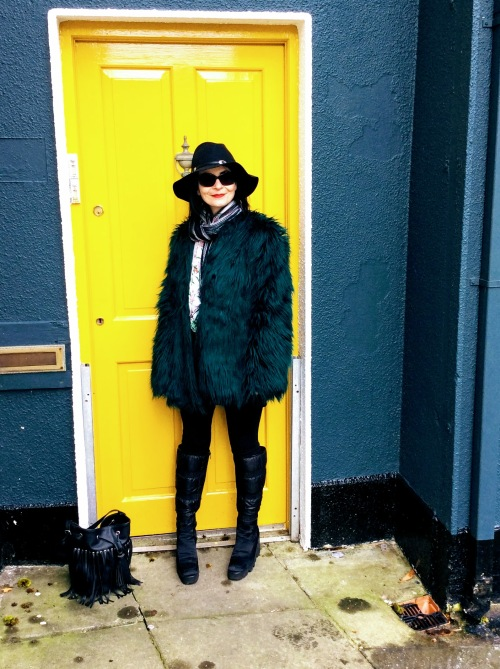 Another fab example of a faux fur jacket. This time a high street example.